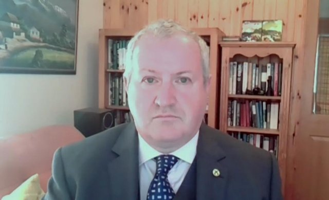 """SNP Westminster leader Ian Blackford  today accused the Prime Minister of """"betraying"""" farmers."""