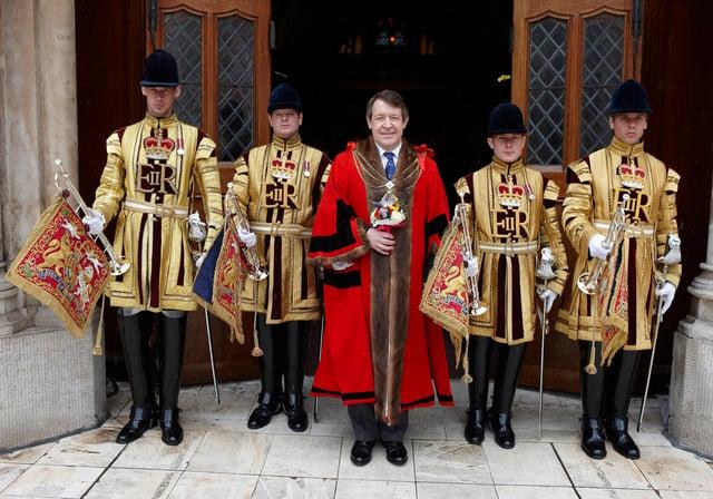 Sir Roger Gifford in ceremonial regalia