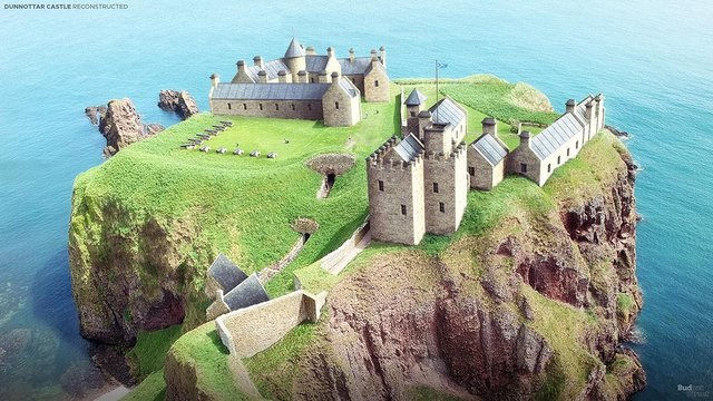 How Dunnottar Castle would have looked around 300 years ago, when it was still an influential seat of power. PIC: Budget Direct.