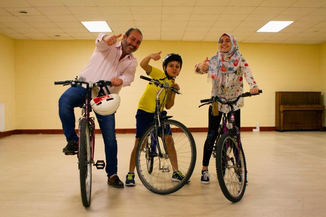 The charity refurbishes bikes for asylum seekers and refugees in Scotland.