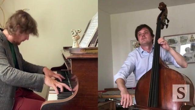Nikita Naumov (double bass) and Maxim Emelyanychev (piano)