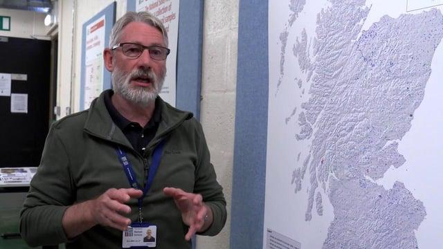Soil scientist, Dr Allan Lilly