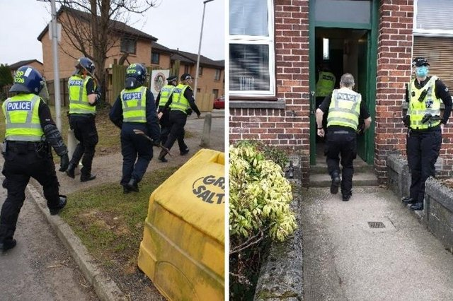On the morning of Tuesday, March, 2, police officers in Dundee executed a search warrant at an address in Cardross Street.