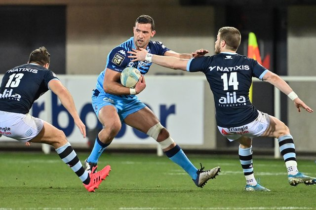 Montpellier's South African full-back Henry Immelman in action against Racing 92. He will join Edinburgh in the summer.