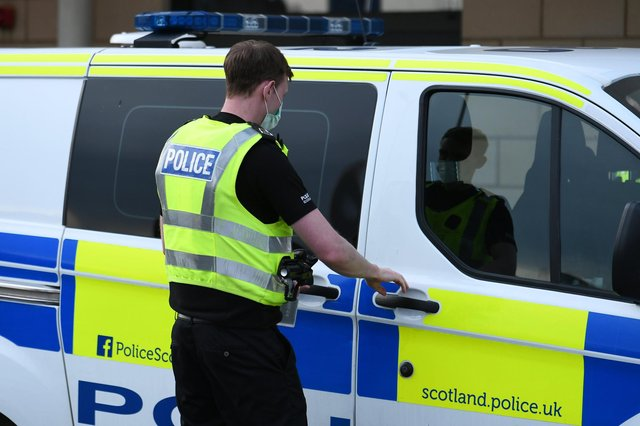 A man was taken to hospital after the incident.