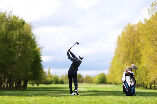 Martin Kaymer plays a practice round during ahead of the Betfred British Masters at The Belfry. Picture: Richard Heathcote/Getty Images