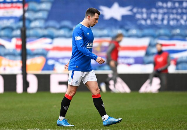 Rangers midfielder Ryan Jack hasn't played since the 4-1 win over Dundee United in February. Picture: SNS