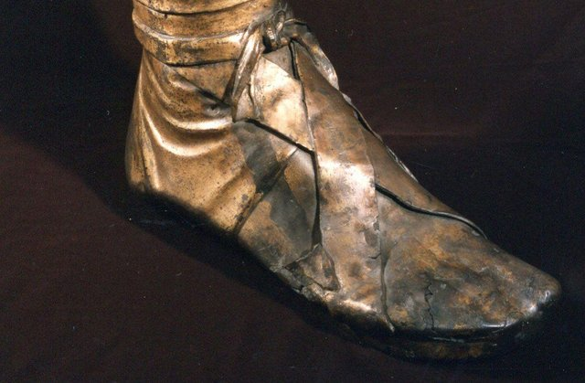 The severed leg is believed to have been  part of an elaborate equestrian statue erected in the second century AD.
