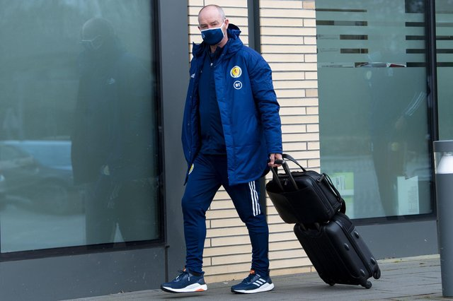Steve Clarke and his players flew over to Israel yesterday from Edinburgh ahead of their match in Tel Aviv.