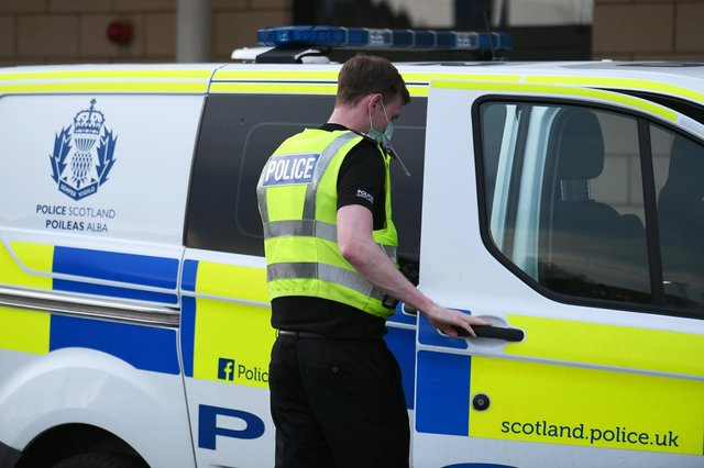 Three police officers have been injured after they were attacked in the car park of Stirling railway station.