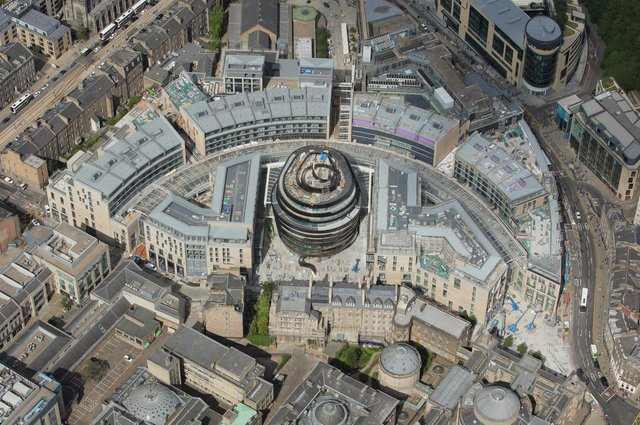 St James Quarter covers 1.7 million square feet in total and is expected to turn Edinburgh's east end into a new retail and tourist hotspot. It is due to open in phases, and be fully up and running by the end of 2022.