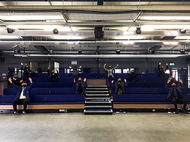 The drama studio at Leith Academy has been given a new look thanks to Sir Ian McKellen.