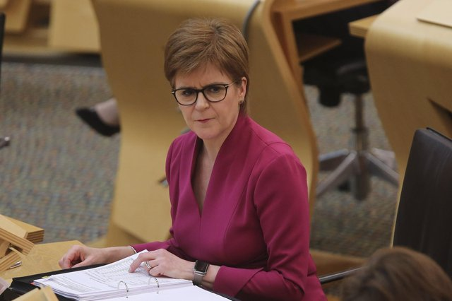 Nicola Sturgeon stressed there was not an 'anti-English bone in my body' and that she leads 'a party that is full of English people' (Picture: Fraser Bremner-Pool/Getty Images)