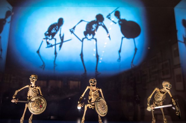 The skeletons used in Jason and the Argonauts are among the star attractions in the new exhibition. PIC: Courtesy of the National Galleries of Scotland