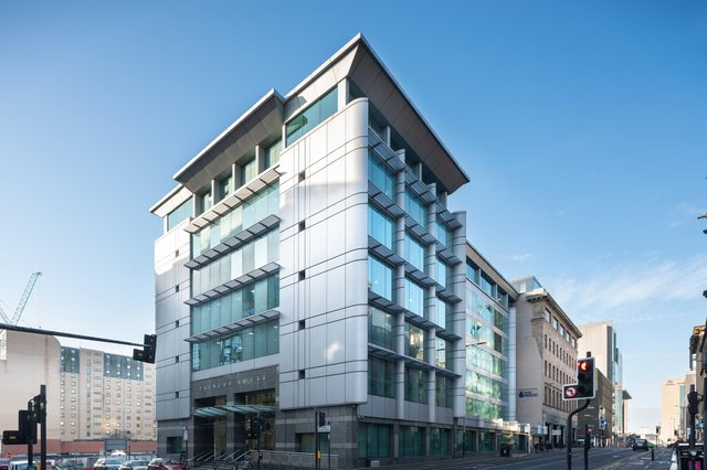 The existing Princes House office building in Glasgow, which was originally constructed in the mid-1960s and is the former home of Lloyds Banking Group, and more recently Barclays. Picture: McAteer Photograph