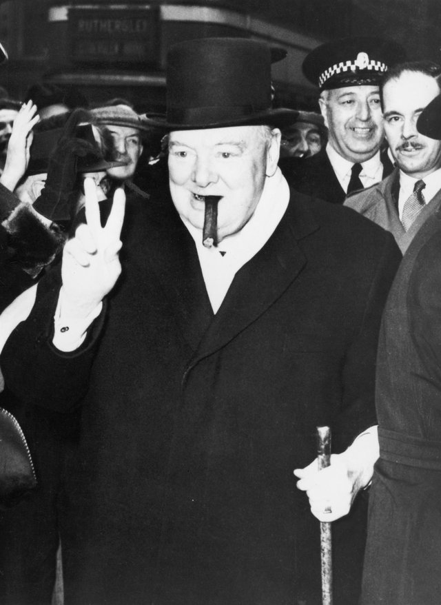 Winston Churchill during an election visit to Glasgow in 1951. (Picture: Keystone/Hulton Archive/Getty Images)