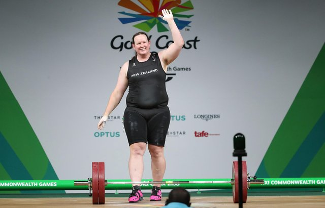 Laurel Hubbard of New Zealand competes in the Women's +90kg final during the weightlifting on day five of the Gold Coast 2018 Commonwealth Games (Picture: Scott Barbour/Getty Images)