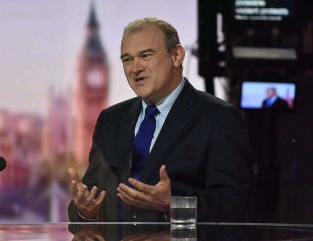 """Ed Davey has said the Liberal Democrats are not the """"rejoin the EU"""" party."""