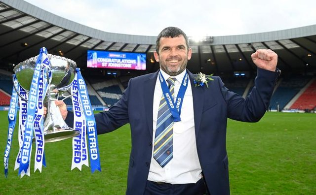 Callum Davidson's St Johnstone will defend the League Cup trophy they lifted for the first time in the club's history when beating Livingston 1-0 in the 2020-21 final at Hampden in February. (Photo by Rob Casey / SNS Group)