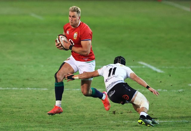 Duhan van der Merwe in action for the Sharks. (Photo by David Rogers/Getty Images)