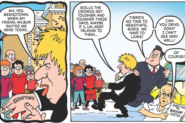 Dominic Cummings' ill-fated trip to Barnard Castle is lampooned in the special edition of the Beano.
