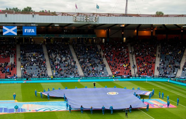 Rangers queried why more supporters were able to attend matches at Hampden Park during Euro 2020. Picture: SNS