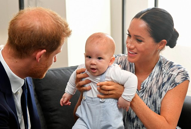 Meghan Markle is debuting as a children's author with a book inspired by a poem she wrote about Prince Harry and their son Archie (Picture: Toby Melville/pool/Getty Images)