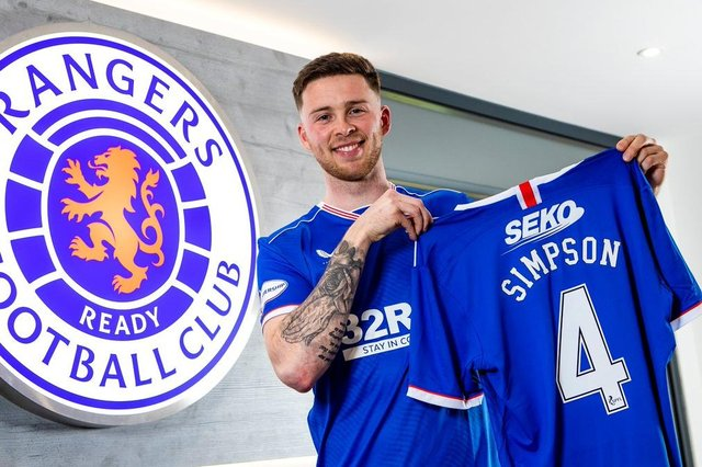 Jack Simpson has joined Rangers 'earlier than planned'