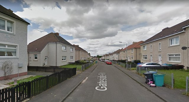Gateside Road in the Craigneuk area of Wishaw picture: Google maps