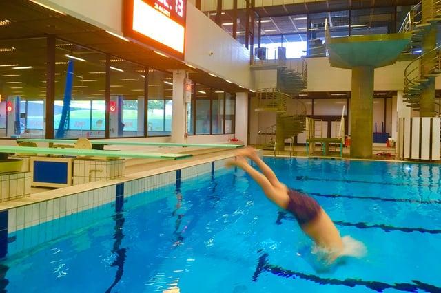Joe Goldblatt performs a dive at the Royal Commonwealth Pool in Edinburgh (Picture: Courtesy of Joe Goldblatt)