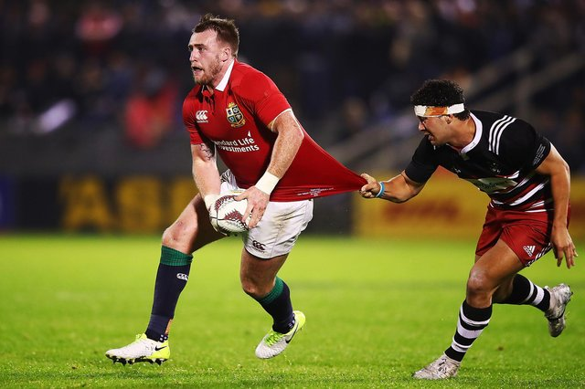 Stuart Hogg in action for the Lions against the New Zealand Provincial Barbarians during the 2017 tour. Picture: Hannah Peters/Getty Images