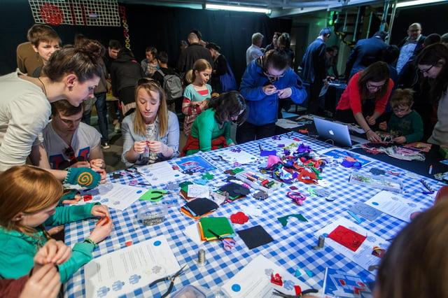 "The ""Mini Maker Faire"" at the Edinburgh Science Festival. Picture: Chris Scott"