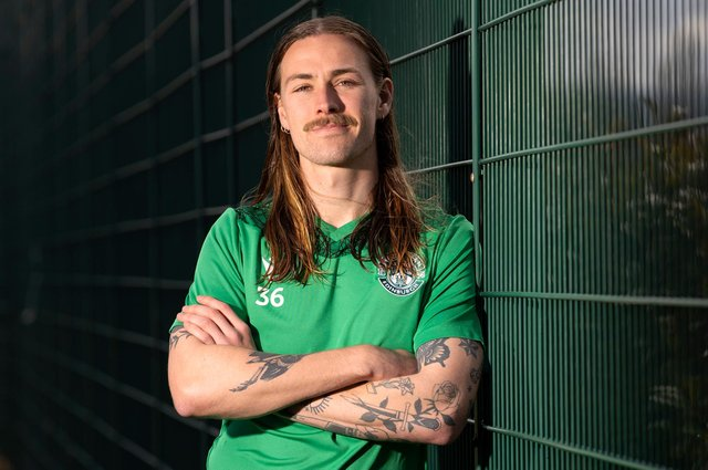 Jackson Irvine has a big few weeks to look forward to with Hibs before turning his attentions to international duties. Photo by Alan Harvey / SNS Group
