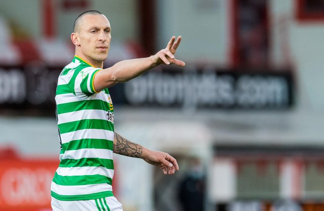 """The last home game in Celtic colours for Scott Brown will be the point it """"really starts to hit home to him"""" that his near decade-and-a-half of glittering service to the club will be almost at and end, says interim manager John Kennedy. (Photo by Ross Parker / SNS Group)"""