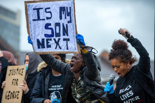 Following the killing of George Floyd in the US by a police officer, protests against racism have been held all over the world (Picture: Bruce Rollinson)