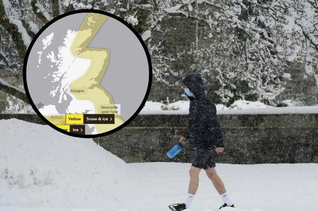Weather: yellow warning for snow remains in place across much of the country this week