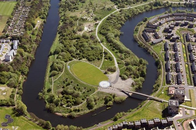 The 15-hectare woodland park at Cuningar Loop, near Dalmarnock, has been created after extensive restoration of a site that was previously used as a quarry, an illegal mine and for landfill