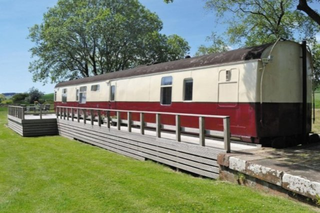 Hop aboard the carriage for a Level 2-compliant holiday for up to six people in the Dumfries and Galloway countryside.