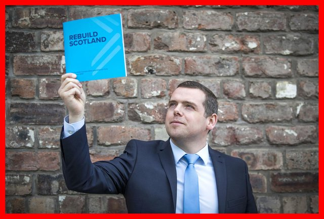 Scottish Conservative leader Douglas Ross during the Scottish Conservative party manifesto launch for the Scottish Parliamentary election, at The Engine Works, Glasgow.
