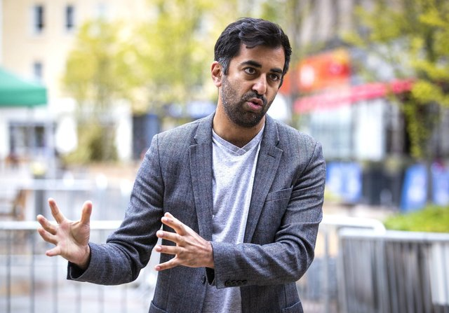 Scottish Health Secretary Humza Yousaf speaks to the media after receiving his Pfizer vaccination jab for Covid-19 at Caird Hall, in Dundee.