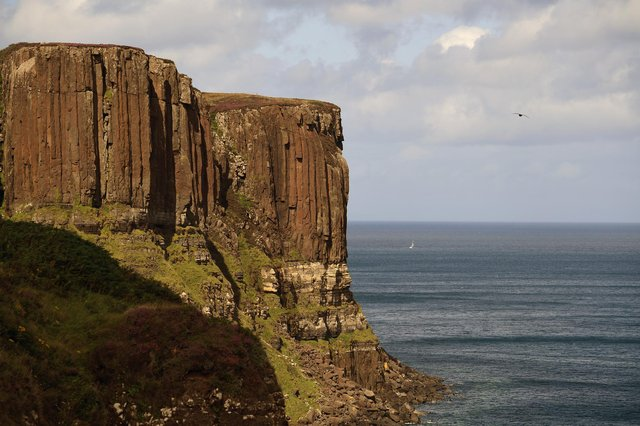 A view of Kilt Rock on the Isle of Skye.