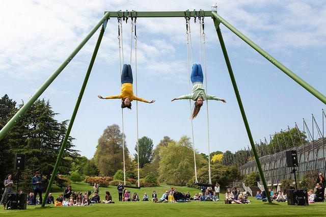 The Swings was premiered by All or Nothing at the Royal Botanic Garden. Picture: Suzanne Heffron