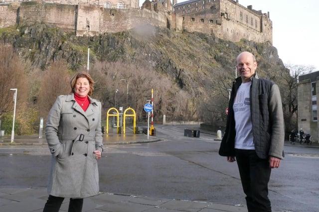Melinda Matthews-Clarkson of CodeClan and Alistair Forbes of Scottish Tech Army. Picture: Ken Sjöberg