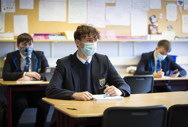 Formal exams were cancelled in Scotland this year