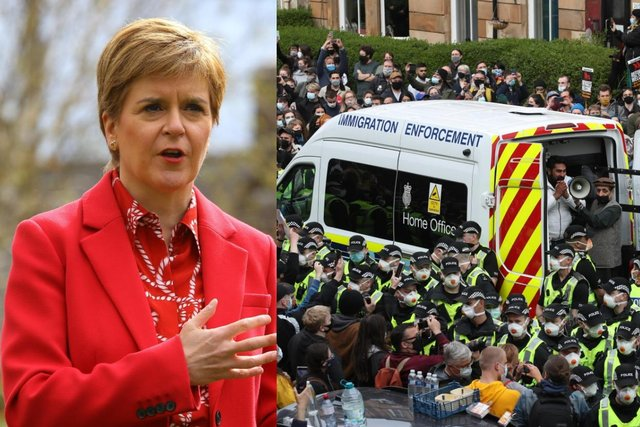 Nicola Sturgeon reacted to the huge protests in her constituency