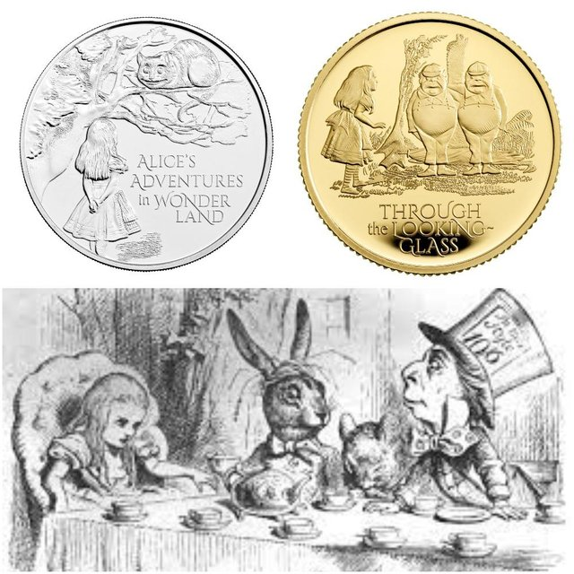 The Royal Mint has released a new coin to commemorate 150 years since Lewis Carrol's classic Alice's Adventures In Wonderland was first published.