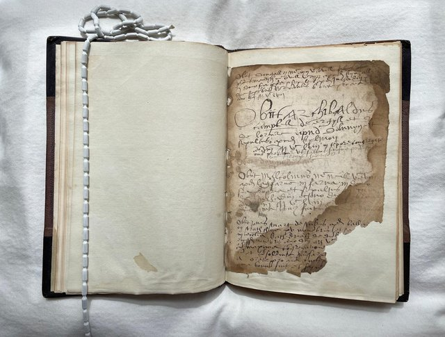 The Chronicle of Fortingall, written in 16th Century Perthshire and which features a mix of Scots, Latin and Gaelic, has been bought at auction for the national collection for £25,000. PIC: NMS.