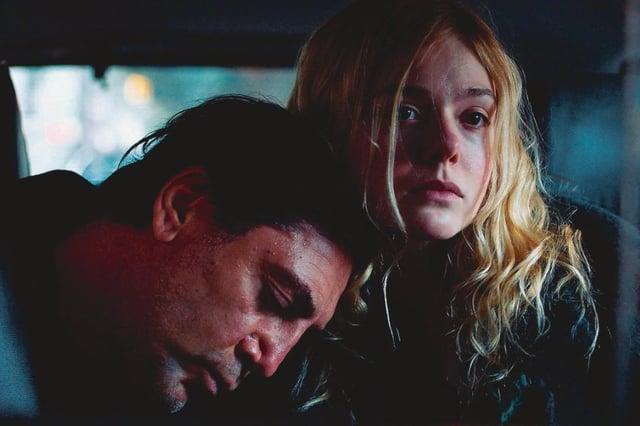 Javier Bardem and Elle Fanning in The Roads Not Taken