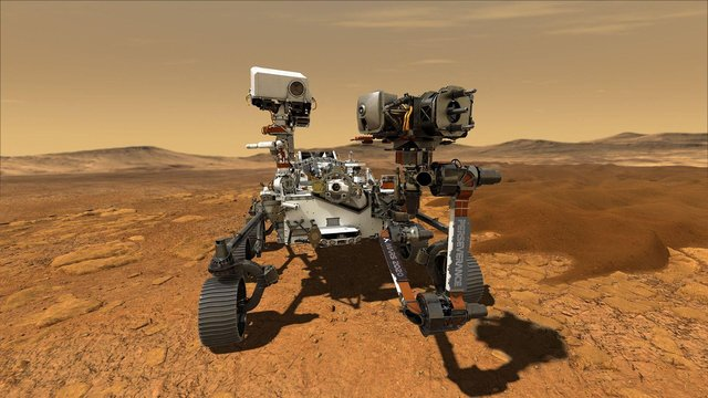 The Mars rover landed on Thursday evening.