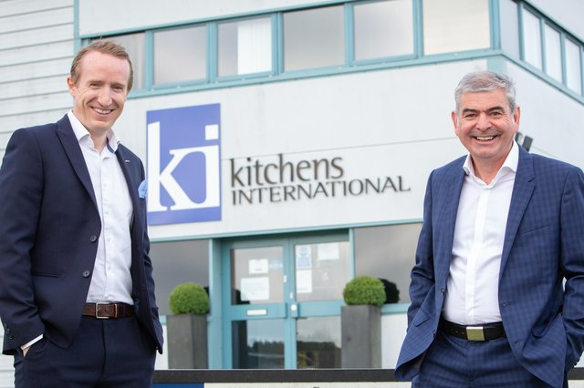 Andrew Donaldson, chief executive of JDS, and Gerry Watson, MD of Kitchens International. Picture: McAteer Photograph